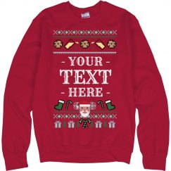Custom Milk & Cookies Tacky Sweater