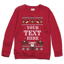 Custom Kids Santa Ugly Sweater