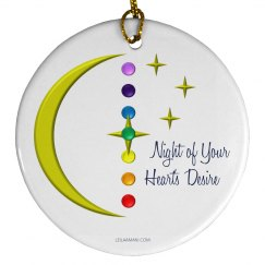 Night of Your Heart's Desire Circle Ornament