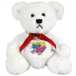 80's Retro White Bear
