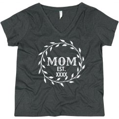 Customizable Mom Curvy V-Neck