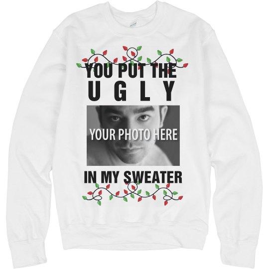 Custom Ugly Christmas Sweater Funny Gag Sweater Unisex Basic Promo