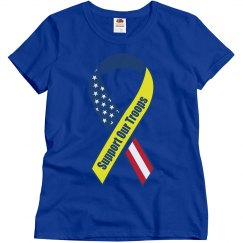 Support our Troops Stars & Stripes Ribbon