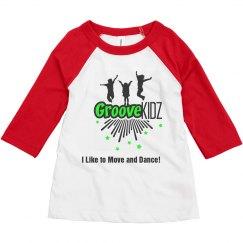 GROOVE KIDZ TODDLER 3/4 SLEEV RAGLAN TEE