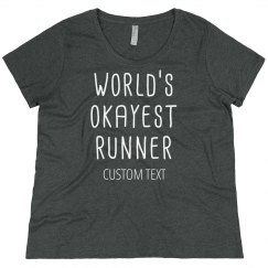 World's Okayest Runner Plus Tee