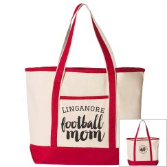 40th Anniversary Football Mom Tote in Red
