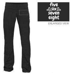 five, six, seven, eight jazz pants with flared legs