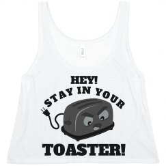 Stay In Your Toaster Color Guard Crop Top