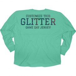 Custom Glitter Game Day Jersey