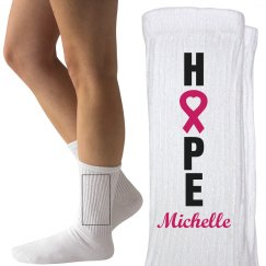 Hope for Those in Need Breast Cancer Charity Socks