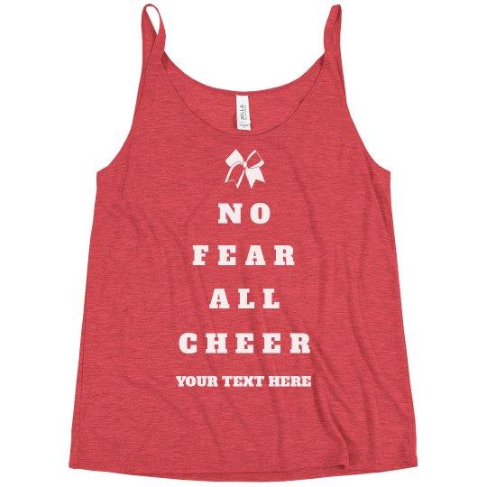 fdacc0c235 No Fear, All Cheer Bow Ladies Slim Fit Festival Tank Top