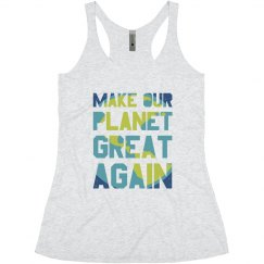 Make our planet great again junior tank top.