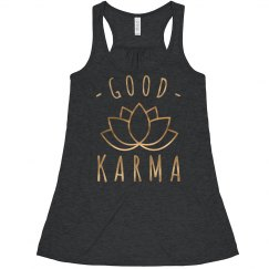 Good Karma Rose Metallic Yoga Crop