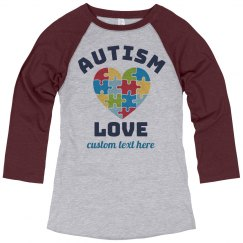 Autism Love Heart Raglan