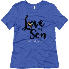 I Love My Son Autism Tee