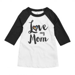 Love My Mom Youth Autism Top