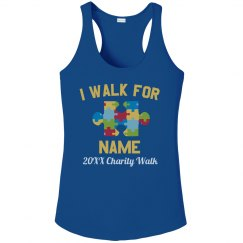 Autism Custom Charity Walk Tank