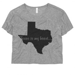 Texas is my heart shirt