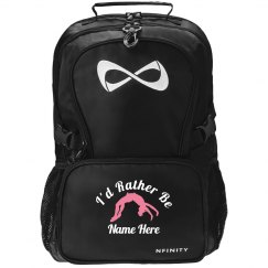 Rather Be Cheering Custom Name Nfinity Backpack