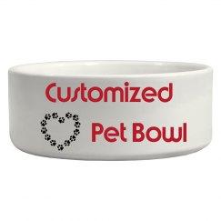Customize Your Pet Bowl