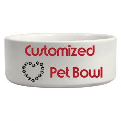 Customize Your Pet Bowl