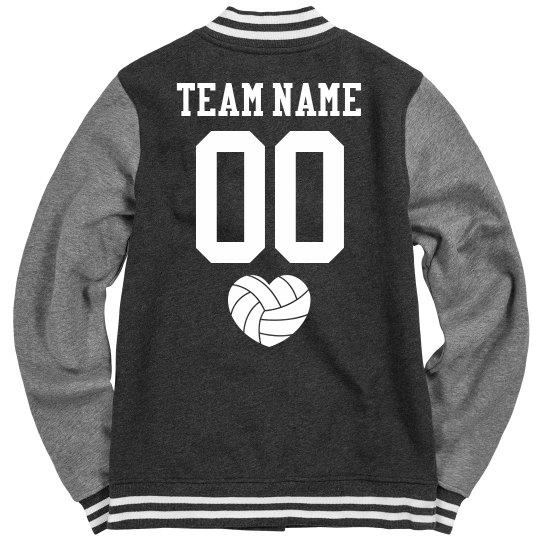 Custom Volleyball Team Varsity Jackets Ladies Fleece Letterman Varsity  Jacket 9624783d9