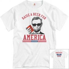 Personalized Raise A Beer For America