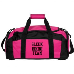 sleek bikini team gym bag