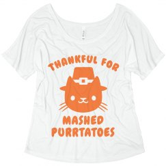 Thankful For Mashed Purr-