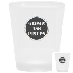 www.GrownAssPinups.com Frosted Shot Glass
