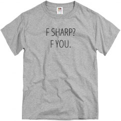 F Sharp Funny Marching Band Tee