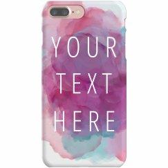 Custom Purple Watercolor Phone Case