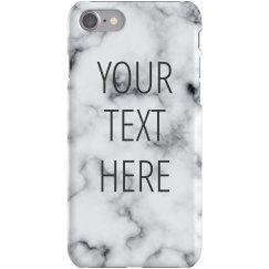 Custom Quote Marble Print Case