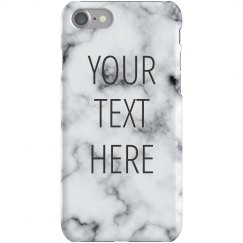 Custom Quote Marble Print Case