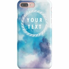 Watercolor iPhone Case Custom Text