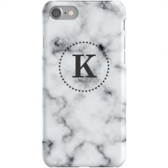 Marble Print Custom Monogram Case
