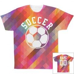 Trendy Soccer All Over Print Shirt