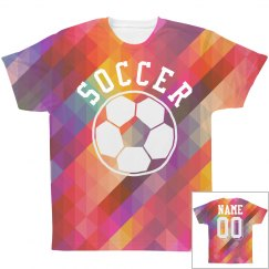 Trendy Soccer All Over Print Shirt