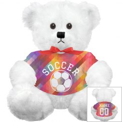 Custom Soccer Plush Bear