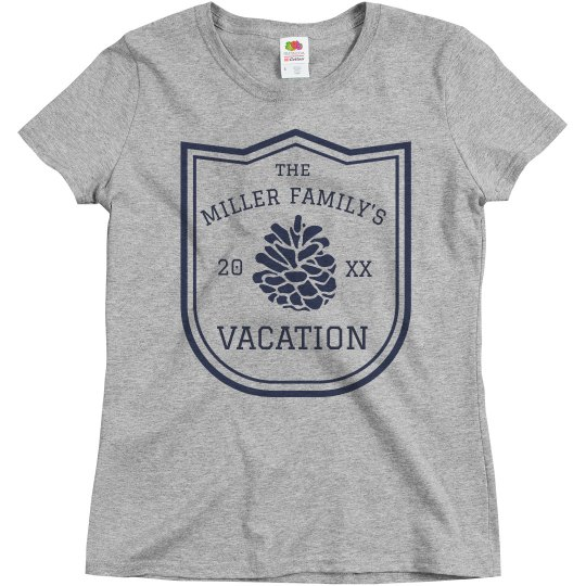 388bd754d Custom Family Vacation Tee Ladies Relaxed Fit Basic Promo T-Shirt