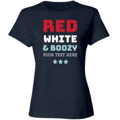 Custom Red White & Boozy Tee