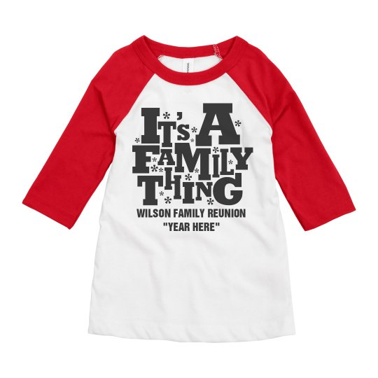 55fd87079ccb68 Family Reunion Shirts For Kids Youth 3 4 Sleeve Raglan T-Shirt