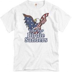 Vote for Birdie Sanders