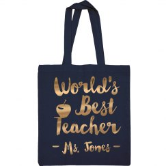 Metallic Custom Best Teacher Gift