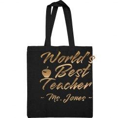 Metallic Custom Best Teacher Gift