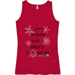 Merry Fitmas Women's Semi-Fitted Tank