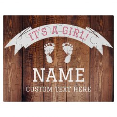 It's a Girl! Custom Puzzle