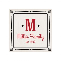 Custom Last Name Family Plaque