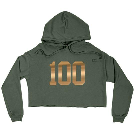Be 100 Crop Hoodie
