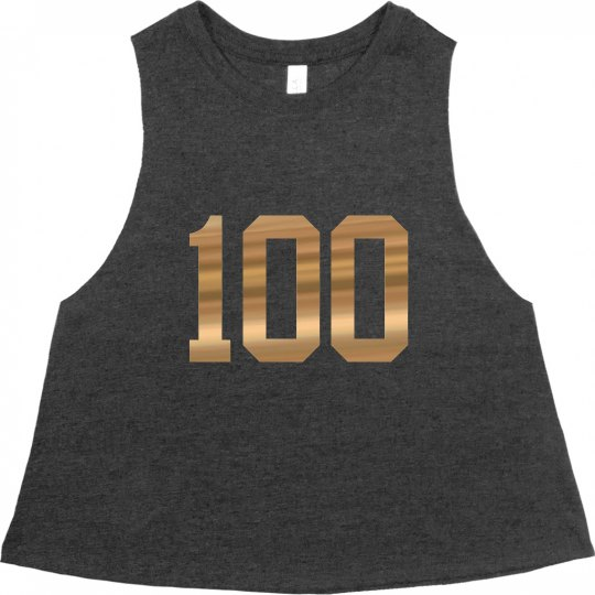 Be 100 Crop Muscle T